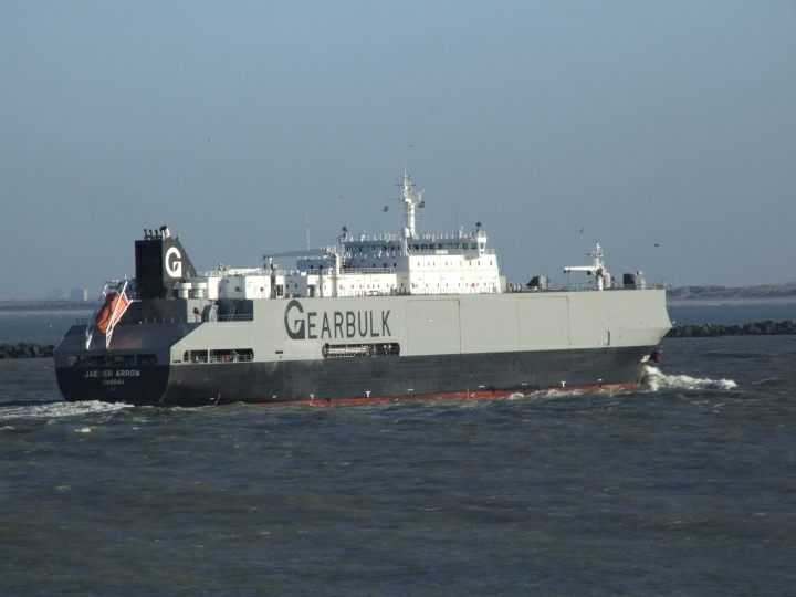 Jaeger Arrow arriving at Rotterdam