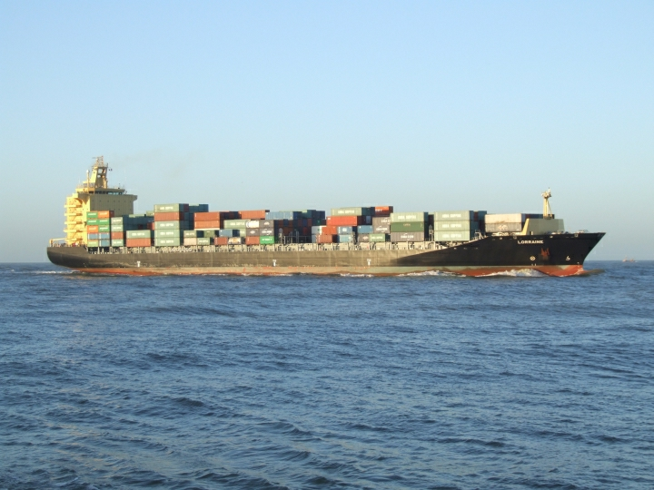 Photo of the container ship Lorraine
