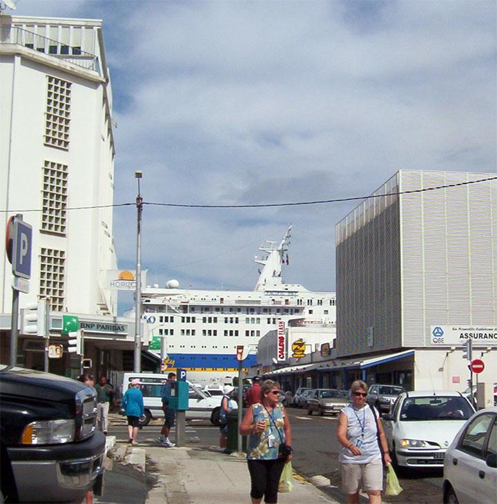 in port at Noumea, New Caledonia