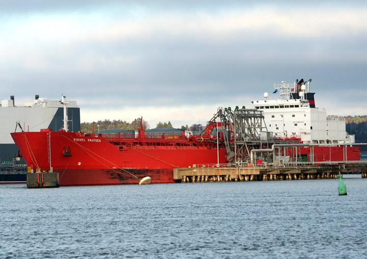 Sidsel Knutsen, Norwegian tanker at Gothenburg