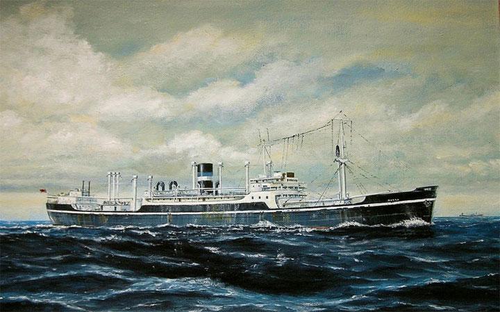 Painting of cargo vessel Matra