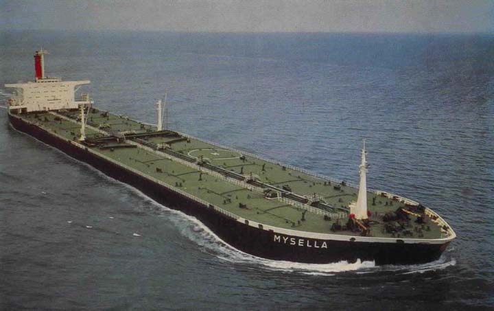 Shell tanker Mysella at full sea