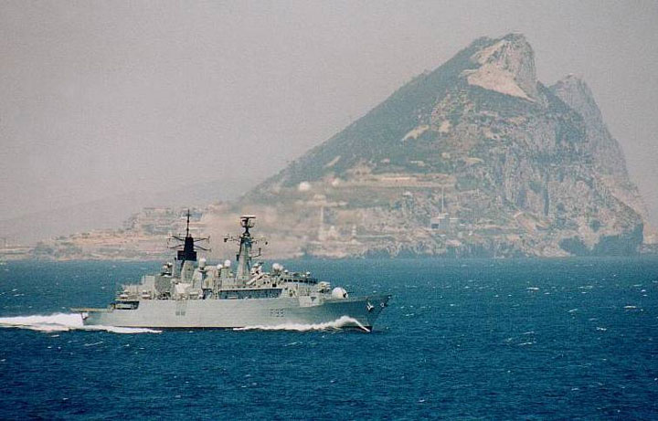 frigate F99 HMS CORNWALL at Gibraltar