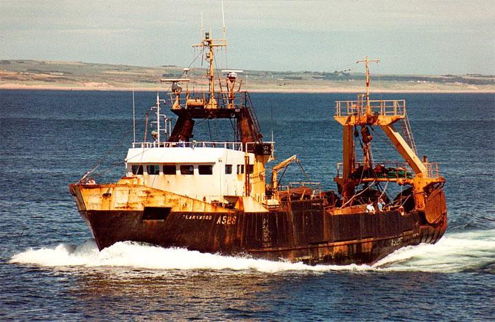 Aberdeen Stern trawler A528 CLARKWOOD