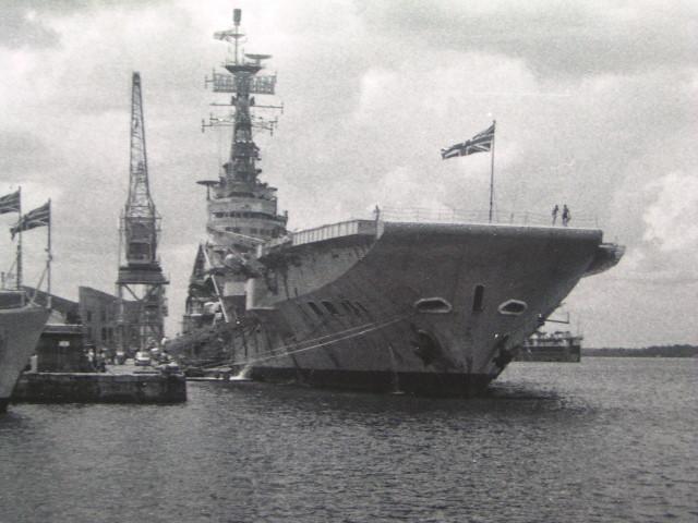 HMS Centaur at Singapore 1964