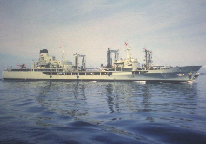 HMCS Provider AOR508 NorthSea 1966
