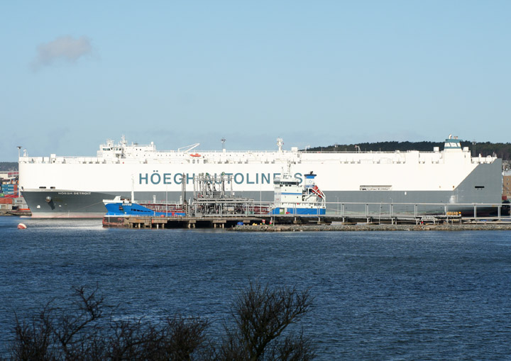 Höegh Detroit, car carrier moored at Skarvikshamn